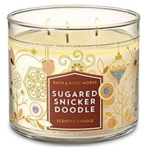 "BATH & BODY WORKS ""SUGARED SNICKER DOODLE"" CANDLE"